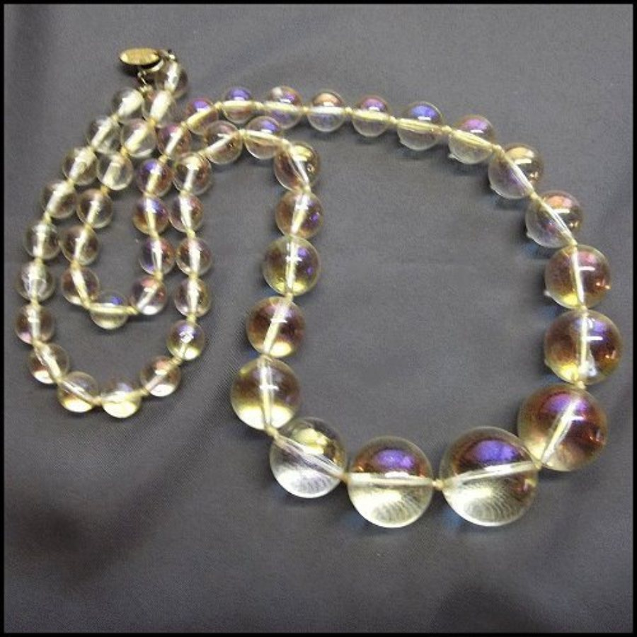 haskel jewelry miriam haskell necklace iridescent bubbles vintage jewelry 2213